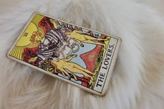The lovers. Tarot card of love. Stock Images