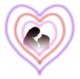 Lovers in heart. Lovers silhouette in heart design vector illustration
