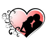 Lovers with a heart shape Stock Photography