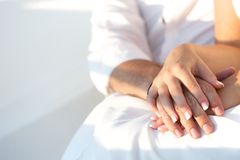 Lovers holding hands Royalty Free Stock Photos