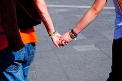 Lovers, holding hands Royalty Free Stock Photos