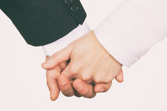 Lovers holding hands Stock Image