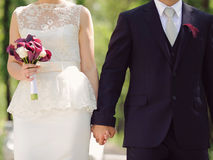 Lovers Holding Hands Stock Photo