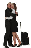 Lovers hugging Stock Images