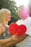 Lovers, husband and wife shows tender feelings Stock Photos