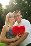 Lovers, husband and wife shows tender feelings Royalty Free Stock Photography