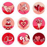 Lovers icons royalty free stock photos