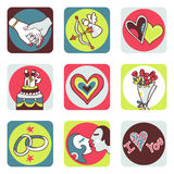 Lovers icons vector illustration
