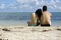 Lovers on island Stock Image