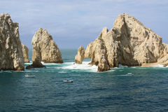 Lovers Island Los Cabos. Lovers Island in Los Cabos, Mexico. Diving, fishing and beaches are a popular activity on this beautiful area of Los Caboscoastal waters Stock Images