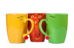 Lovers kiss cup Royalty Free Stock Image