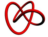 Lovers knot. With two hearts in one unique Stock Photo