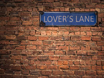 Lovers Lane Sign Stock Photos