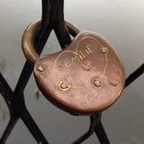 Bridge Lock. Lovers lock on a bridge Royalty Free Stock Image
