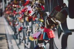 Lovers Lock Bridge Stock Image