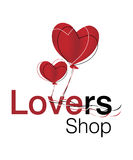 Lovers Logo. Logo Design for Lovers Gift Shop Royalty Free Stock Photography