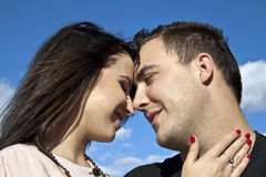 Lovers at Looking Together. Young Lovers at Looking Together Stock Photos