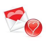Lovers mail heart in love Royalty Free Stock Photos