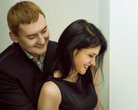 Lovers man and woman Royalty Free Stock Photography