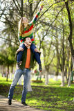 Lovers man and woman in the spring Stock Images