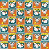 Mice lovers seamless pattern Royalty Free Stock Photo