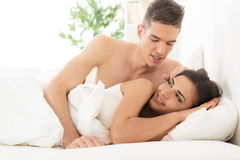 Lovers In The Morning Royalty Free Stock Photo