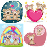 Lovers Mouses. Set of Valentine cards with Lovers Mouses Royalty Free Stock Images