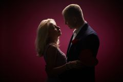Lovers in the night Stock Photography