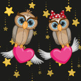 Lovers Owls Stock Illustration