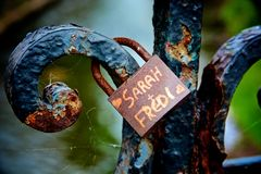 Lovers padlock Royalty Free Stock Image