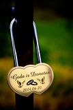 Lovers padlock Stock Images