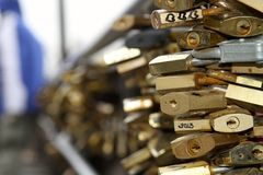 Lovers padlocks Royalty Free Stock Image