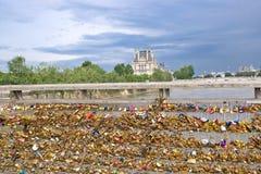 Lovers' padlocks, Paris Stock Photos