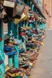 Lovers padlocks on Tumski Bridge Stock Photo