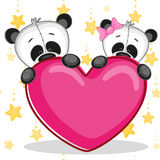 Lovers pandas Royalty Free Stock Image
