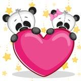 Lovers pandas Royalty Free Stock Image