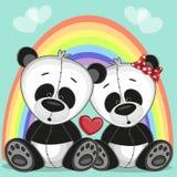 Lovers pandas Royalty Free Stock Photos