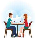 Lovers in Paris cafe Royalty Free Stock Images