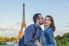 Lovers in Paris stock photos
