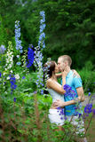 Lovers in the park on a date Stock Photo