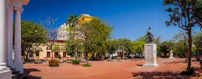 Lovers' Park in downtown Santa Marta, caribbean Stock Photos