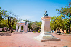 Lovers' Park in downtown Santa Marta, caribbean Stock Photo