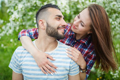Lovers in park Royalty Free Stock Photography