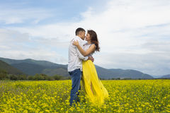 The lovers passionately embrace each other. Royalty Free Stock Images
