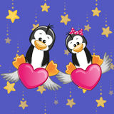 Lovers Penguins Royalty Free Stock Photo