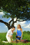 Lovers on picnic Royalty Free Stock Photos