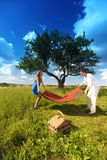 Lovers on picnic Royalty Free Stock Image