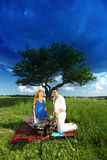 Lovers on picnic Royalty Free Stock Images