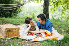 Lovers picnic valentine Royalty Free Stock Photography