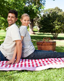 Lovers picnicking Stock Photography